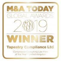 M&A Today Global Awards 2019 logo_Tapestry Compliance Ltd_v2