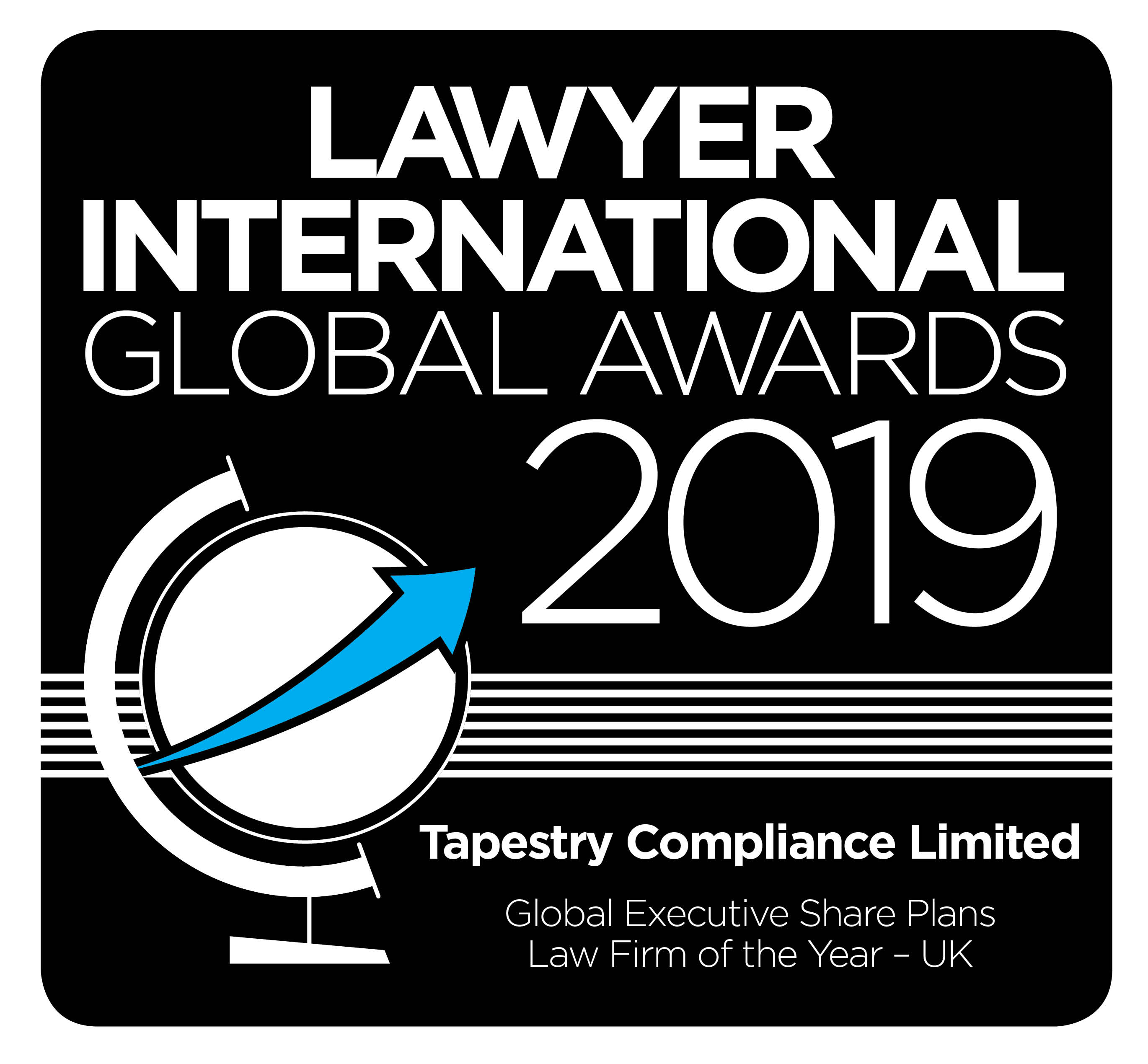 The Lawyer international - Global awards 2019 logo_Tapestry Compliance Limited